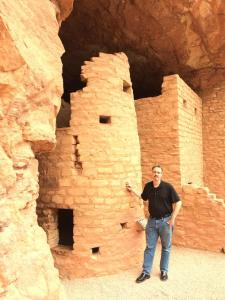 Jon at the Manitou Cliff Dwellings