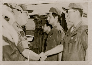 Dad receiving a commendation in Vietnam