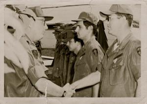 Dad receiving a commendation in Vietnam