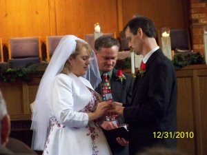 A photo from our wedding ... fortunately for us, it did happen!