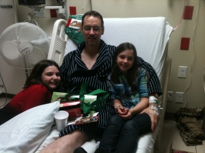Christmas 2010 ... spent in Heart Hospital. Jon's girls came to visit him there. It was a Christmas we would never forget.