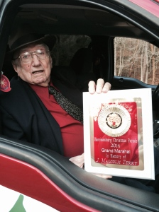 Papaw with the plaque given to us as a memento of the event.