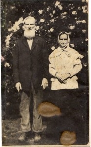 Photo of George Washington Allbritton and his wife Sarah during their later years of life.