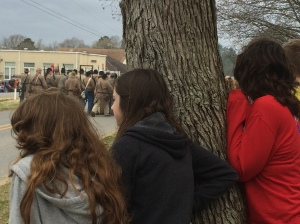 Some of my kids watching the battle unfold along the streets of Harrisonburg.