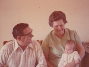 Not the first time my grandparents got to see me, but the second ... Thanksgiving 1972.
