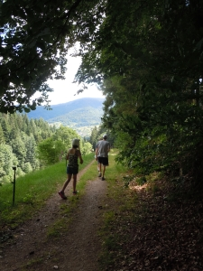 Hiking in the Black Forest where it was light enough for a photo.