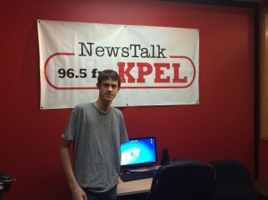 Touring a local news radio station