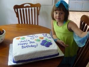 Julia ... on her 5th birthday