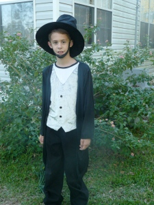 Dressed as Abe Lincoln