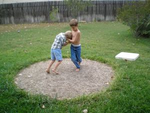 Sumo wrestling with your brother